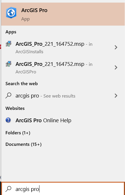 Sign into Pro by Windows Search